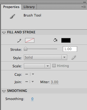 brush tool flash stroke size not increaseable